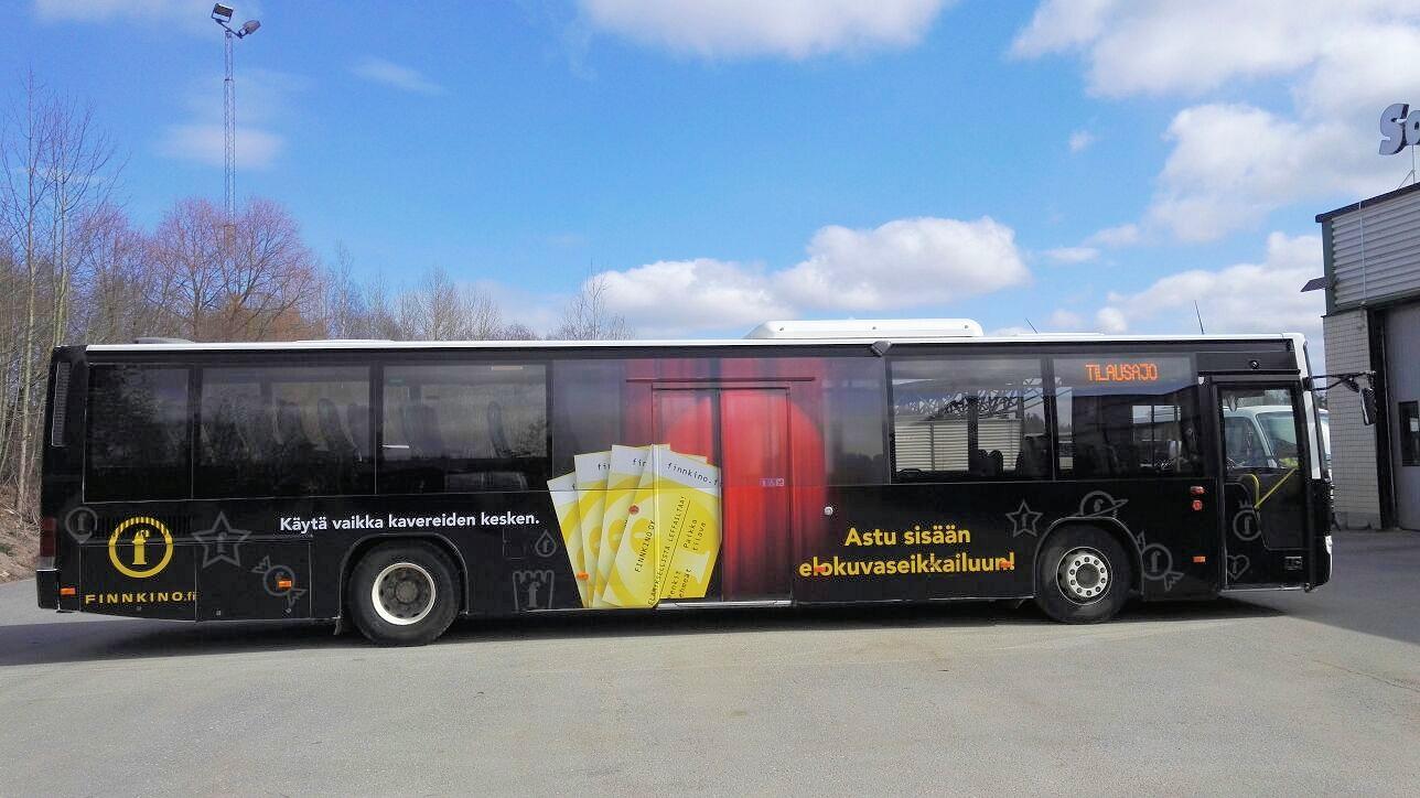Kokoteipattu bussi Finnkinon