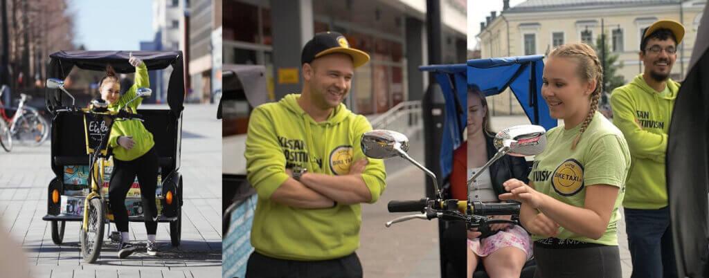 Biketaxit valloittavat kuusi uutta kaupunkia – BikeTaxi on ekologinen ja elämyksellinen tapa liikkua